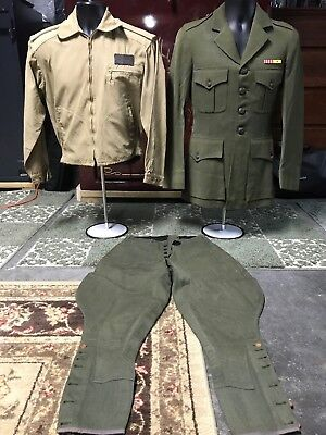 Pair of WW2 American Marine (USMC) Uniforms - Named to  Lt. Colonel