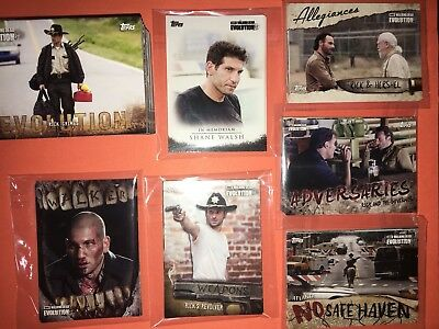 Walking Dead Evolution Complete Master Card Set Base 1-100 & All 6 Insert Sets
