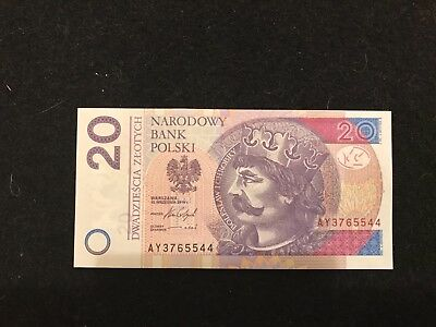 Poland 20 Zlotych 2016 King Denar Coin Gem Unc Currency Money Bill Banknote