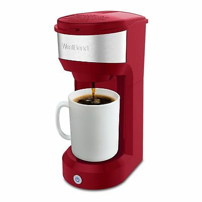 West Bend Single Serve Coffee Maker Red K Cup New Inbox 4349