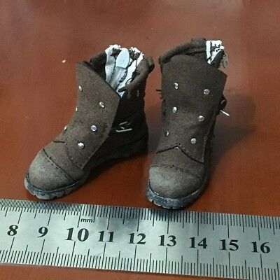 """1/6 Boots Shoes Model Brown Fit 12"""" FLAGSET FS 73012 1/6th Doomsday Survivors"""