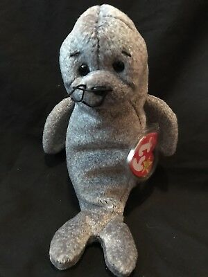Slippery the Seal TY beanie babies stuffed animal plush