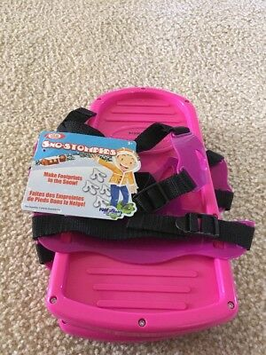 Ideal Sno-Stompers Pink Bear Claw Print Snow Shoes Tracks Kids NEW Fun
