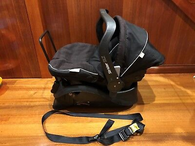 Steelcraft Strider DLX baby capsule Great Condition Black