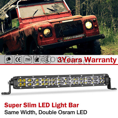 """12""""in 120W LED Light Bar Combo Work Driving Fog Offroad Backup ATV SUV Boat 4WD"""