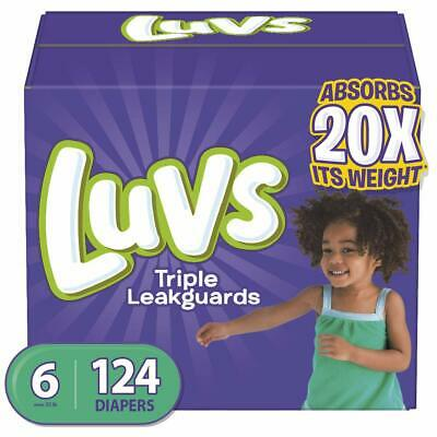 Luvs Ultra Leakguards Disposable Baby Diapers Size 6 124 Count One Month Supply