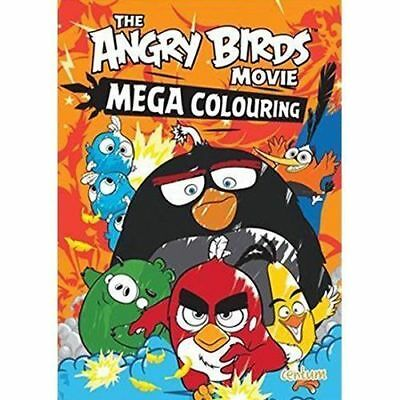MEGA COLOURING Angry Birds Movie Book Red Bomb Hatchlings Mighty Eagle Pig Kids