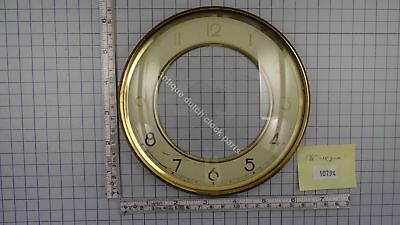 "CLOCK DOOR WITH CONVEX GLASS AND DIAL 6 3/16"" or 15,7 cm across"