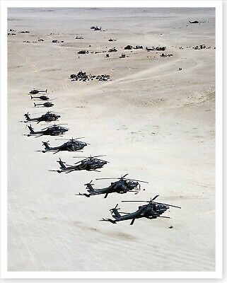 AH-64A Apache Helicopters 101st Airborne Division Desert Storm 8 x 10 Photo