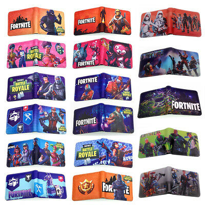 AU Kids Fortnite Game Wallet Men's Short Bifold Purse Coin Bag Handbag Bday Gift