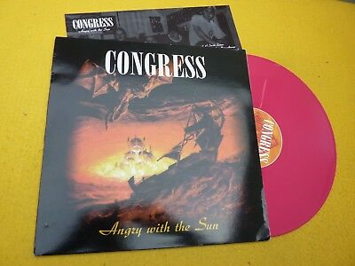 Congress ‎– Angry With The Sun (EX++/M-) 1998 insert  Red vinyl Lp ç