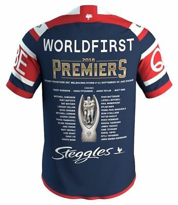 Sydney Roosters 2018 Premiers Jersey Mens, Ladies & Kids Sizes NRL ISC IN STOCK