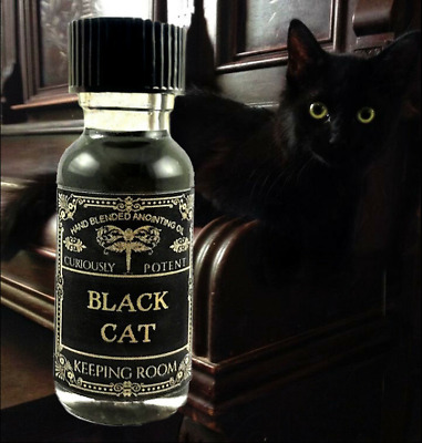 Black Cat Oil Hoodoo Magick Occult Witchcraft Supplies Attraction Jinx Removing