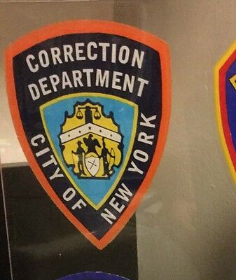 City Of New York NYC Correction Dept.InWindshield *Authentic Decal *Others Avail
