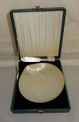 Thursday Island Cased Mother of Pearl Shell Butter Dish & Knife