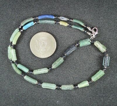 Ancient Roman Glass Beads 1 Medium Strand 100 -200 Bc 0981