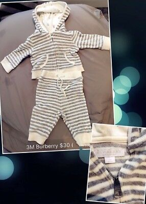 Burberry baby tracksuit set jacket pant 3M