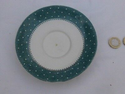 Vintage 1930's Saucer from Ridgeway - Design 'Conway ' Green with White spots