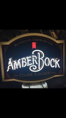 Michelob Brewing Amber Bock Dark Lager Neon Sign