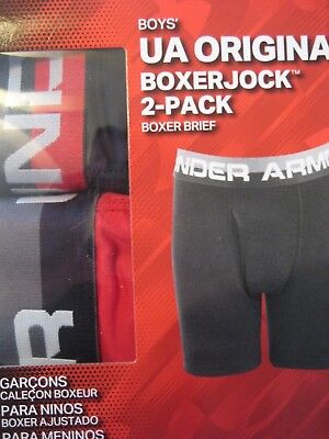 NEW 2 UNDER ARMOUR Boy's boxer brief shorts, football baseball soccer underwear
