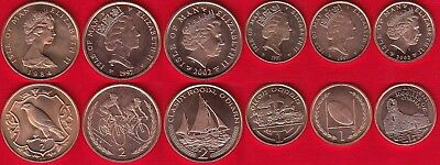 Isle of Man set of 6 coins: 1 penny - 2 pence 1984-2002 UNC