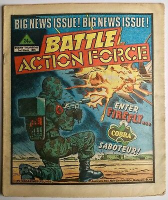 BATTLE ACTION FORCE / 2nd MARCH 1985 / IPC MAGAZINES / UK COMIC STRIPS / V/G