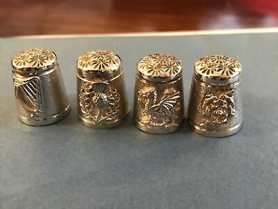 Limited Edition Set of United Kingdom Silver Thimbles