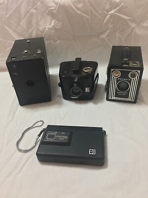 Vintage Camera Lot Brownie, Bulls Eye, Target, Kodak