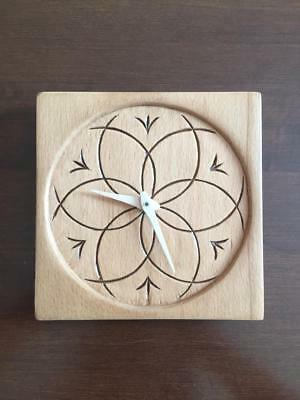 wooden clocks handcarved clock woodcarving wall hanging art handmade table clock