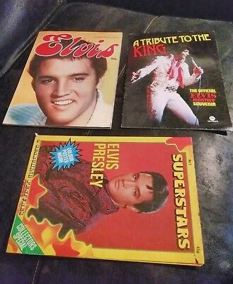 ELVIS - A tribute to the King book x 2 books + free poster magazine