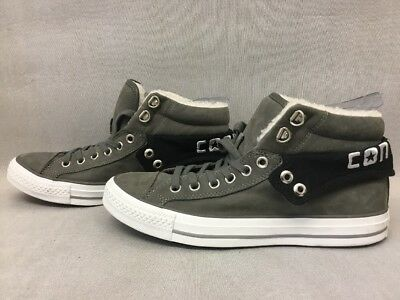 e5d2e16663ab CONVERSE GREY SUEDE Fur Lined All Star Chuck Taylor HiTop Unisex ...