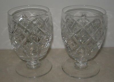 Very Good Pair of Antique Cut Glass Large Rummers