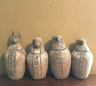 Ancient Egyptian Canopic Jars - Antiquities