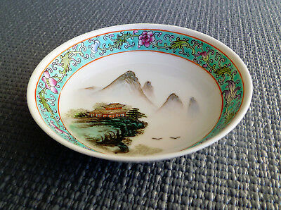 Chinese Hand-painted Porcelain 4 Inch Saucer