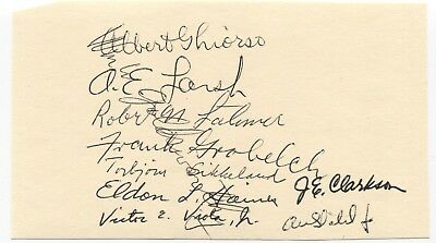 Albert Ghiorso and Others at Berkeley Signed Card Autograph Signature Scientist