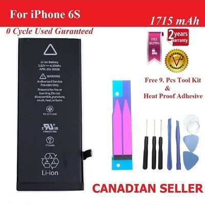 New 1715mAh Li-ion Battery Replacement For iPhone 6S  + Tools  Adhesive
