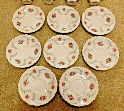 "8 Royal Albert Bone China Cups & Saucers ""Tranquility"" Pattern"