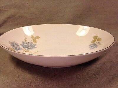 Barker Bros China Vegetable Bowl 63-3700 Japan White Blue Flowers Silver Trim