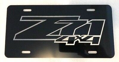 YAMAHA Car Tag Diamond Etched on Black Aluminum License Plate