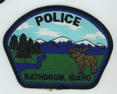 Rathdrum Idaho Police Department Patch Vintage Issue, Unused Unsewn