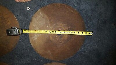 Vintage Disc Plow Blade 18 Inch Industrial Metal Art Farm Implement Rustic Decor