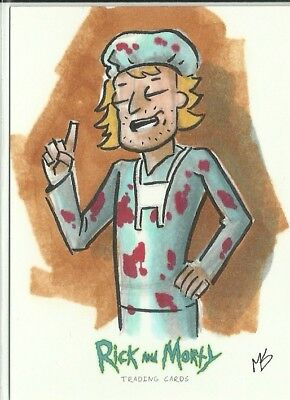 2018 Cryptozoic Rick & Morty Sketch Card -  Davin by Matt Stewart