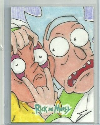 "2018 Cryptozoic Rick & Morty Sketch Card by Dave ""Pops"" Tata"