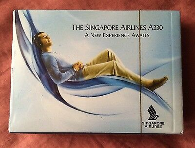 Singapore Airlines Airbus A330 Commemorative Playing Poker Cards, Unopened