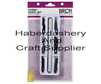 Birch Hobby Knife Set 6 Spare Blades*for Craft/card*caution For Kids