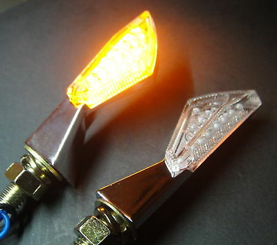 2X LED MATRIX CHROM MICRO INDICATOR CAGIVA Freccia C12/C12R,Mito 125 Race,W4 80