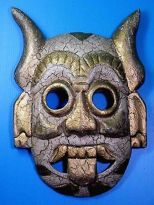 CLASSICAL TRIBAL TIKI WOODEN WALL HANGING MASK BALI INDONESIAN HOME DECOR No.02