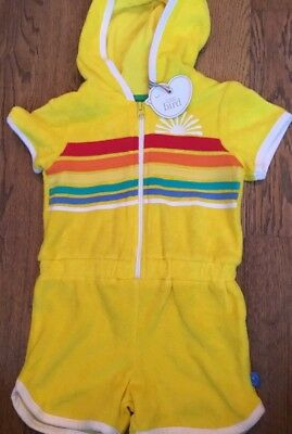 Little Bird By Jools Oliver Yellow Towelling Beach Short Jumpsuit 12-18 Months