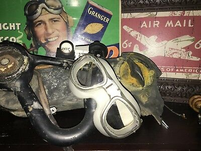 Rare original amber WW2 US Navy USAC B7 Goggles restored, speedster cycle