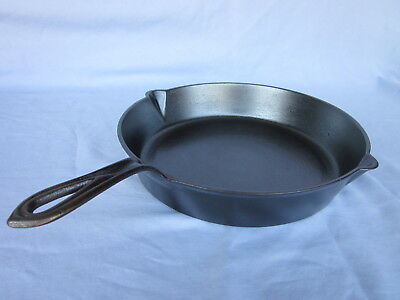 Vintage #8 Cast Iron Early Gated Mid 1800S Skillet Fry Pan W/heat Ring~Restored